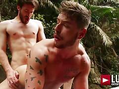 Josh Rider Bottoms For Philip Zyos' Big Uncut Dick
